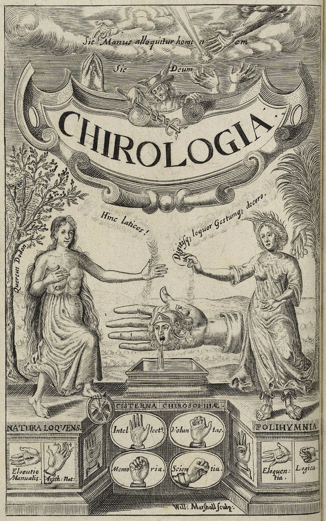 'Chirologia' - Escaneo de Folger Shakespeare Library, Washington D.C