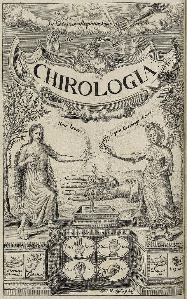 'Chirologia' - Escaneo de Folger Shakespeare Library, Washington D.C