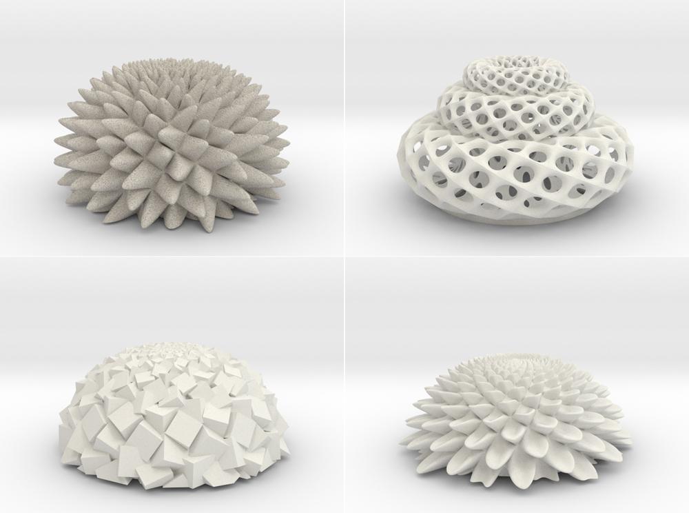 Esculturas cinéticas de John Edmark - Imágenes: www.shapeways.com