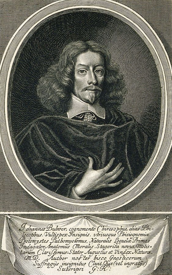 William Faithorne retrata a Bulwer en un grabado de 1653 para el libro 'Anthropometamorphosis' - Imagen: Wikimedia Commons