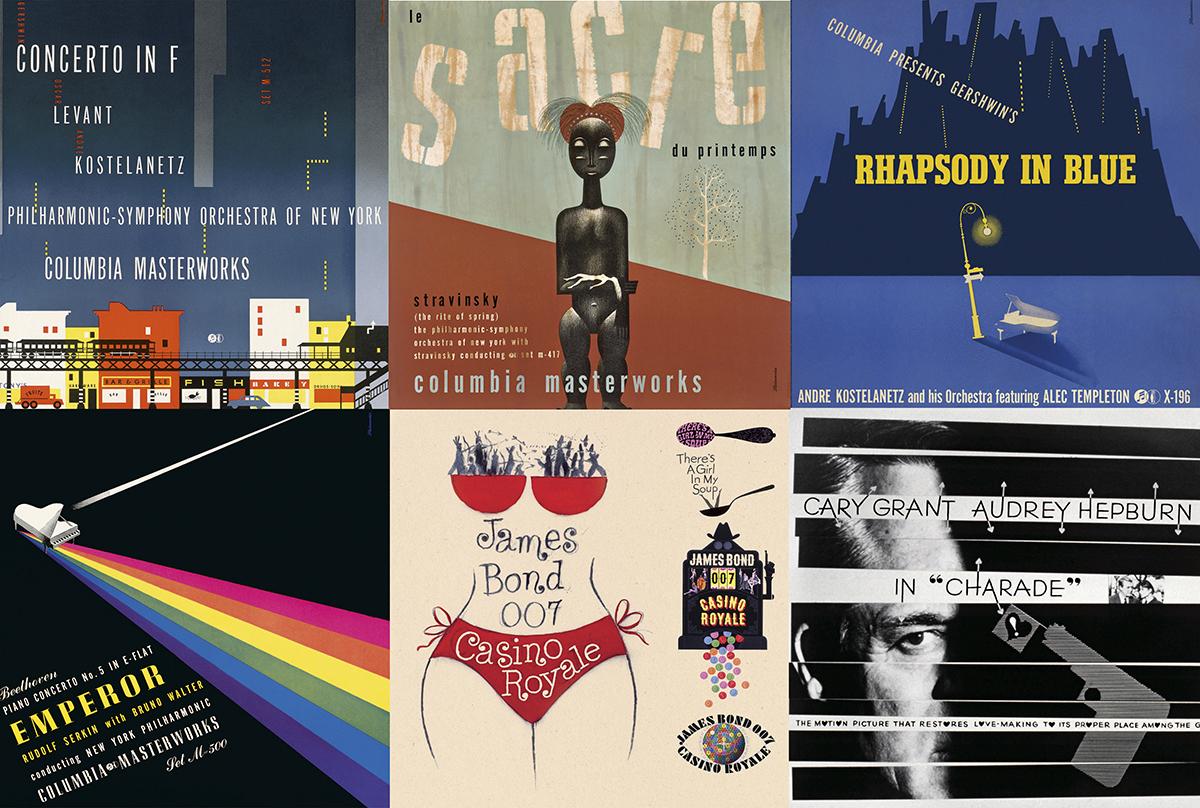 Seis portadas diseñadas por Steinweiss © Alex Steinweiss - Taschen