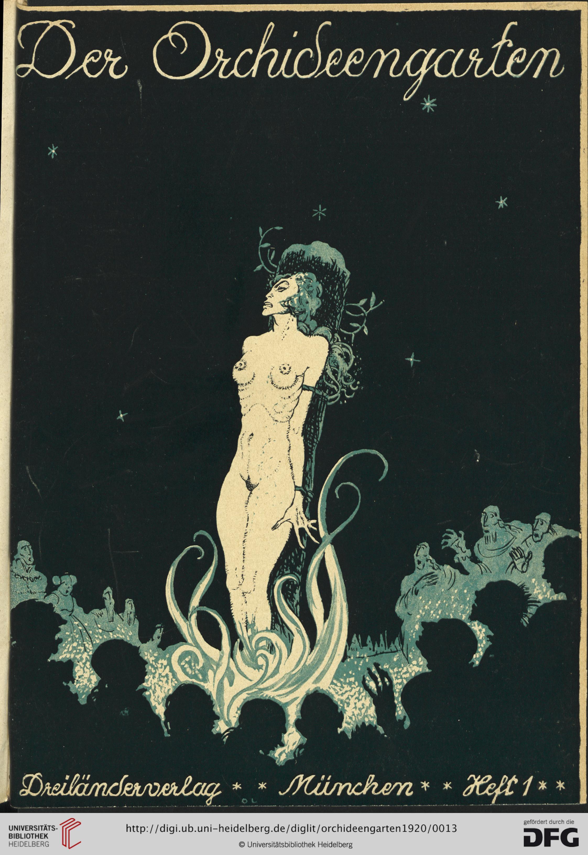 Ilustración de la revista 'Der Orchideengarten', digitalizada por la Universidad de Heidelberg