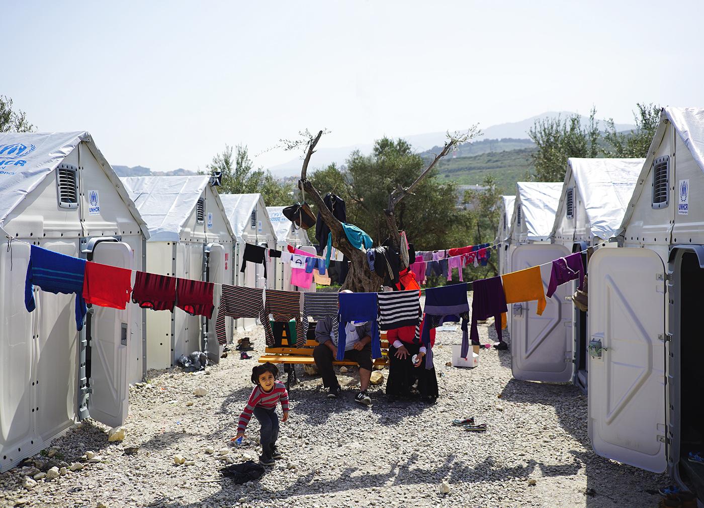 Refugios Better en el campamento de tránsito de Kara Tepe-Mytilene, Lesbos © Better Shelter