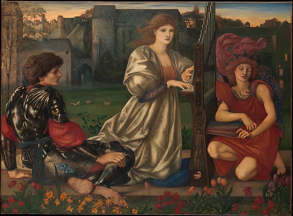 """The Love Song"" by Sir Edward Burne-Jones (British, Birmingham 1833–1898 Fulham) via The Metropolitan Museum of Art is licensed under CC0 1.0"