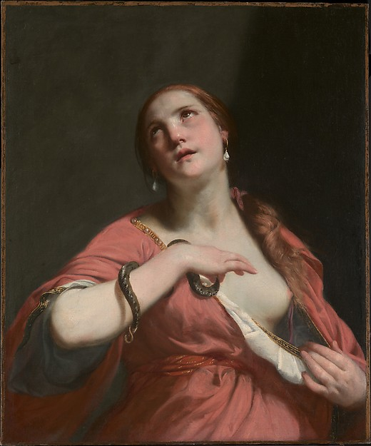 """The Death of Cleopatra"" by Guido Cagnacci (Italian, Santarcangelo di Romagna 1601–1663 Vienna) via The Metropolitan Museum of Art is licensed under CC0 1.0"