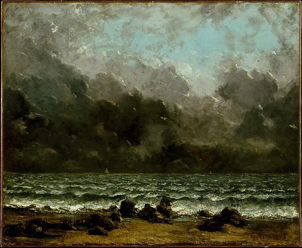 """""""The Sea"""" by Gustave Courbet (French, Ornans 1819–1877 La Tour-de-Peilz) via The Metropolitan Museum of Art is licensed under CC0 1.0"""