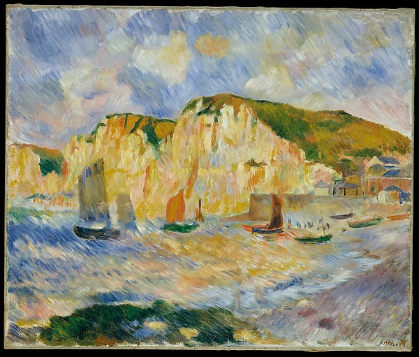 """Sea and Cliffs"" by Auguste Renoir (French, Limoges 1841–1919 Cagnes-sur-Mer) via The Metropolitan Museum of Art is licensed under CC0 1.0"