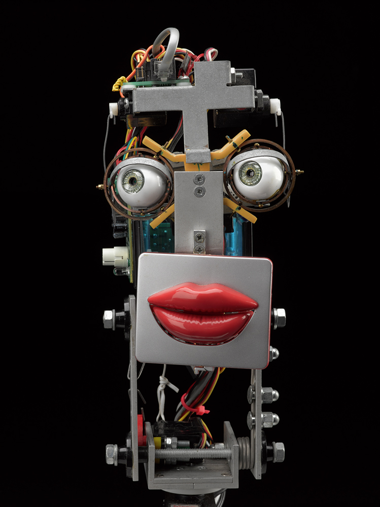 Inkha, a reactive robotic head that tracks movement and speaks. Built by Matthew Walker, c 2003 © The Board of Trustees of the Science Museum