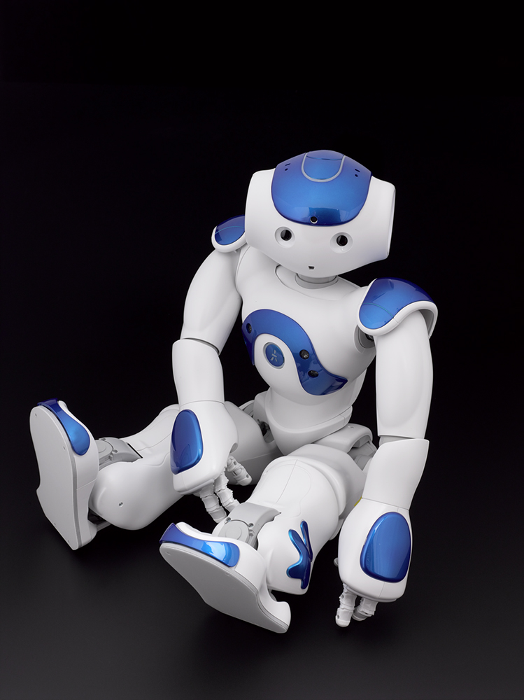 Nao V5 Evolution humanoid robot, created by Aldebaran Robotics © The Board of Trustees of the Science Museum