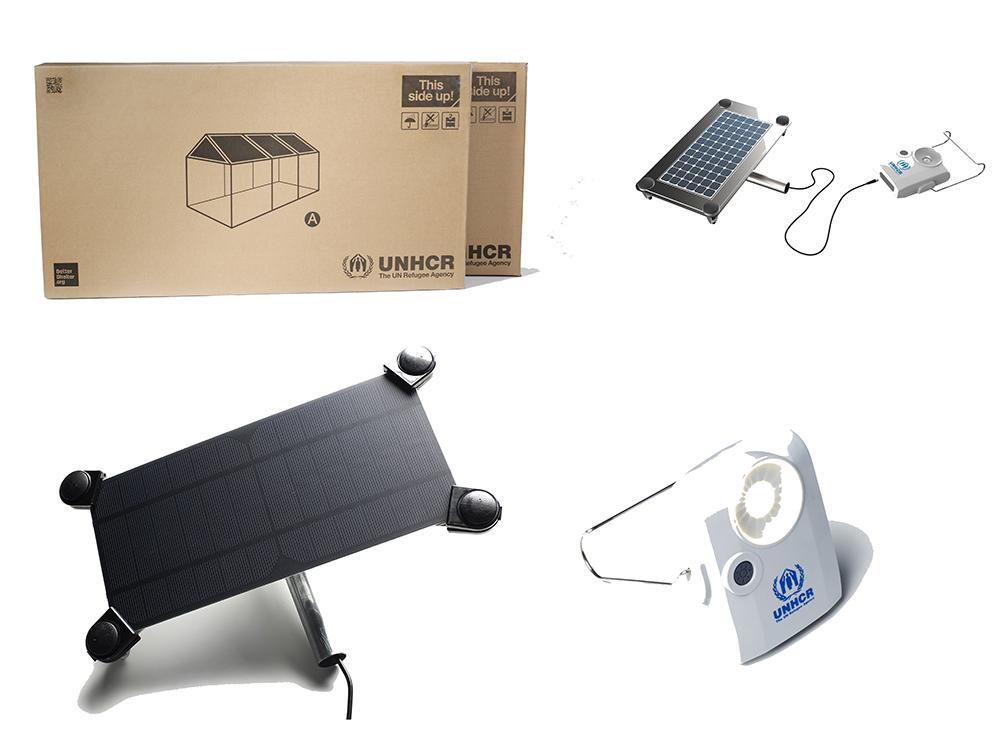 El kit del refugio y algunos de los complementos © Better Shelter