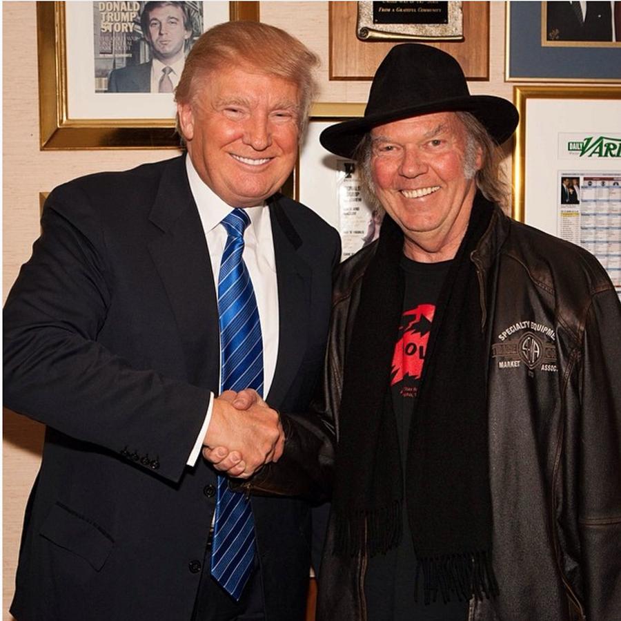 Trump y Young antes de que el primero fuese elegido presidente - Foto: Instagram