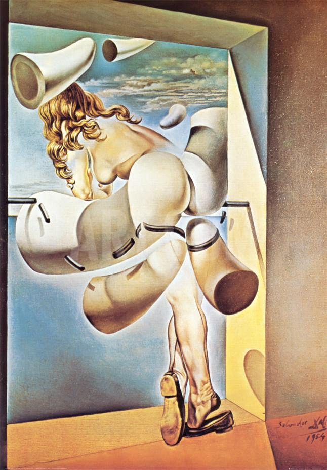 'Young Virgin Auto-Sodomized by the Horns of Her Own Chastity' - Salvador Dalí, 1954 - Wikimedia Commons
