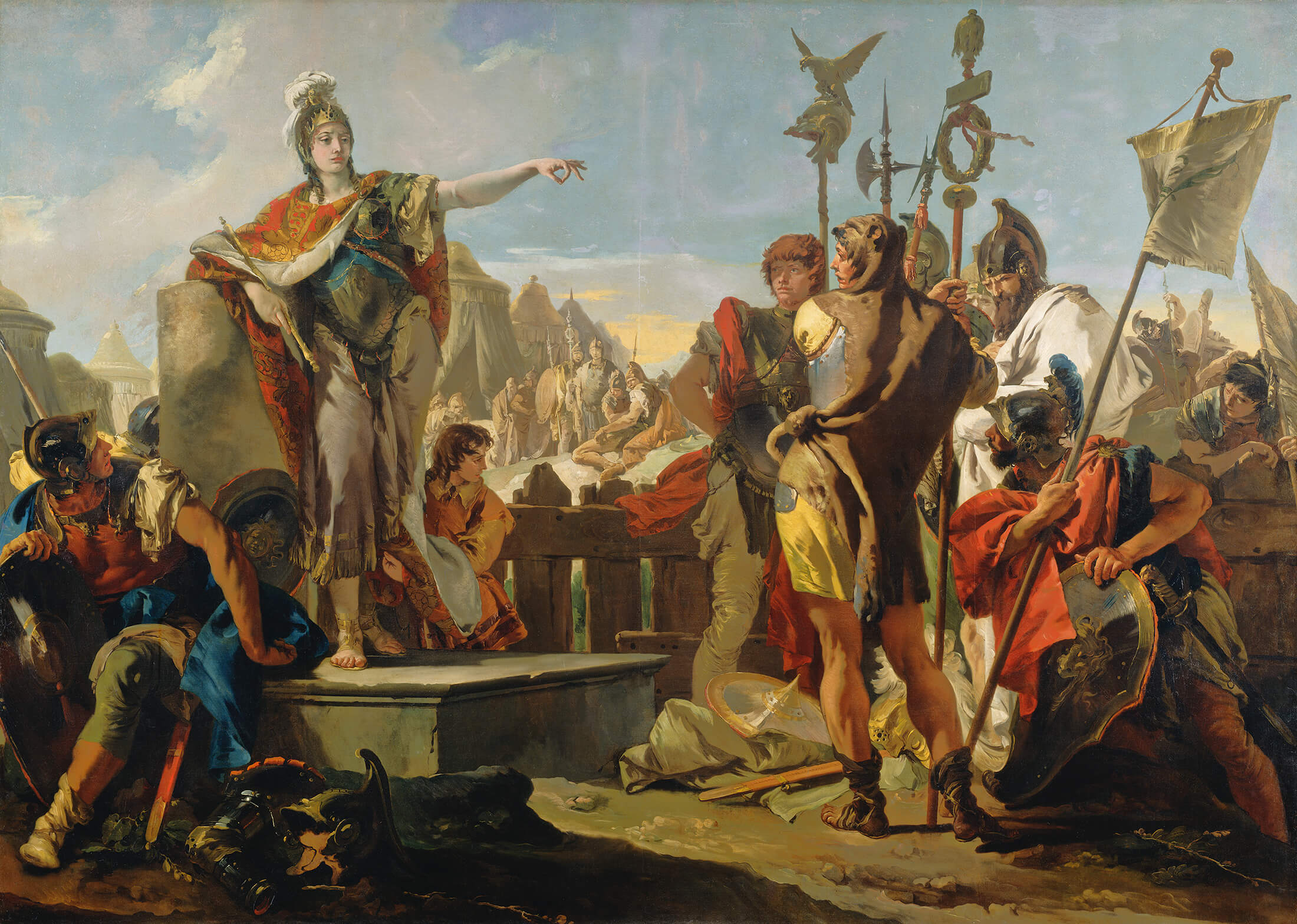 'Queen Zenobia Addressing Her Soldiers', Giovanni Battista Tiepolo, 1725–1730. National Gallery of Art, Washington, DC - Courtesy National Gallery of Art, Washington, DC