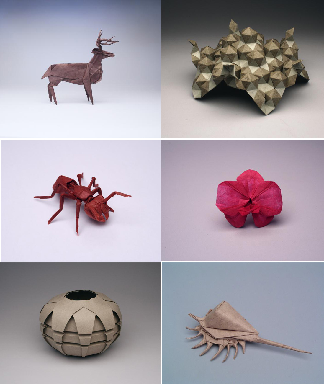 Creaciones de Robert J. Lang - Imágenes: www.langorigami.com