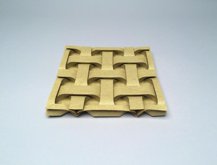 'Curved Square Weave, Opus 665' - Rober J. Lang - Foto: www.langorigami.com