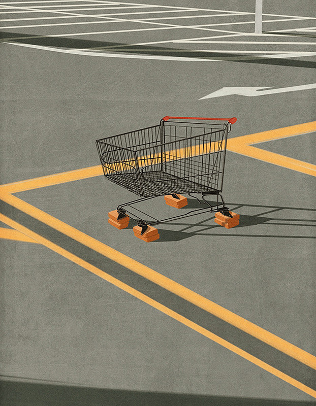'Economic paralysis' - Andrea Ucini - Imagen: Anna Goodson Illustration Agency