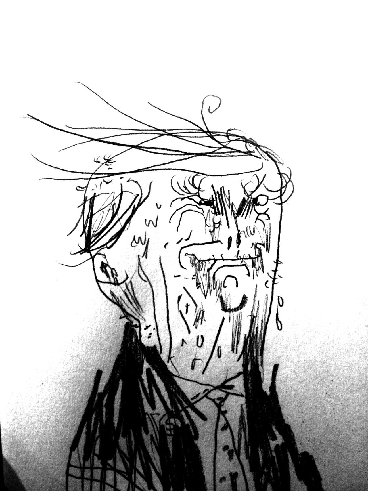 El primer dibujo de Craghead para el proyecto 'TrumpTrump' - Warren Craghead - Imagen: trumptrump.tumblr.com