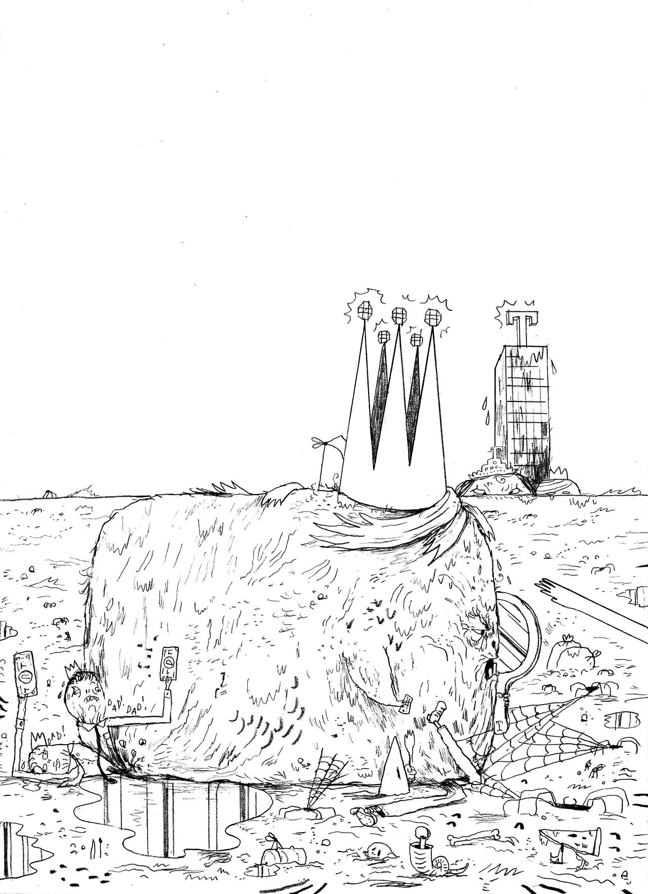 Ilustración del proyecto 'TrumpTrump' - Warren Craghead - Imagen: trumptrump.tumblr.com