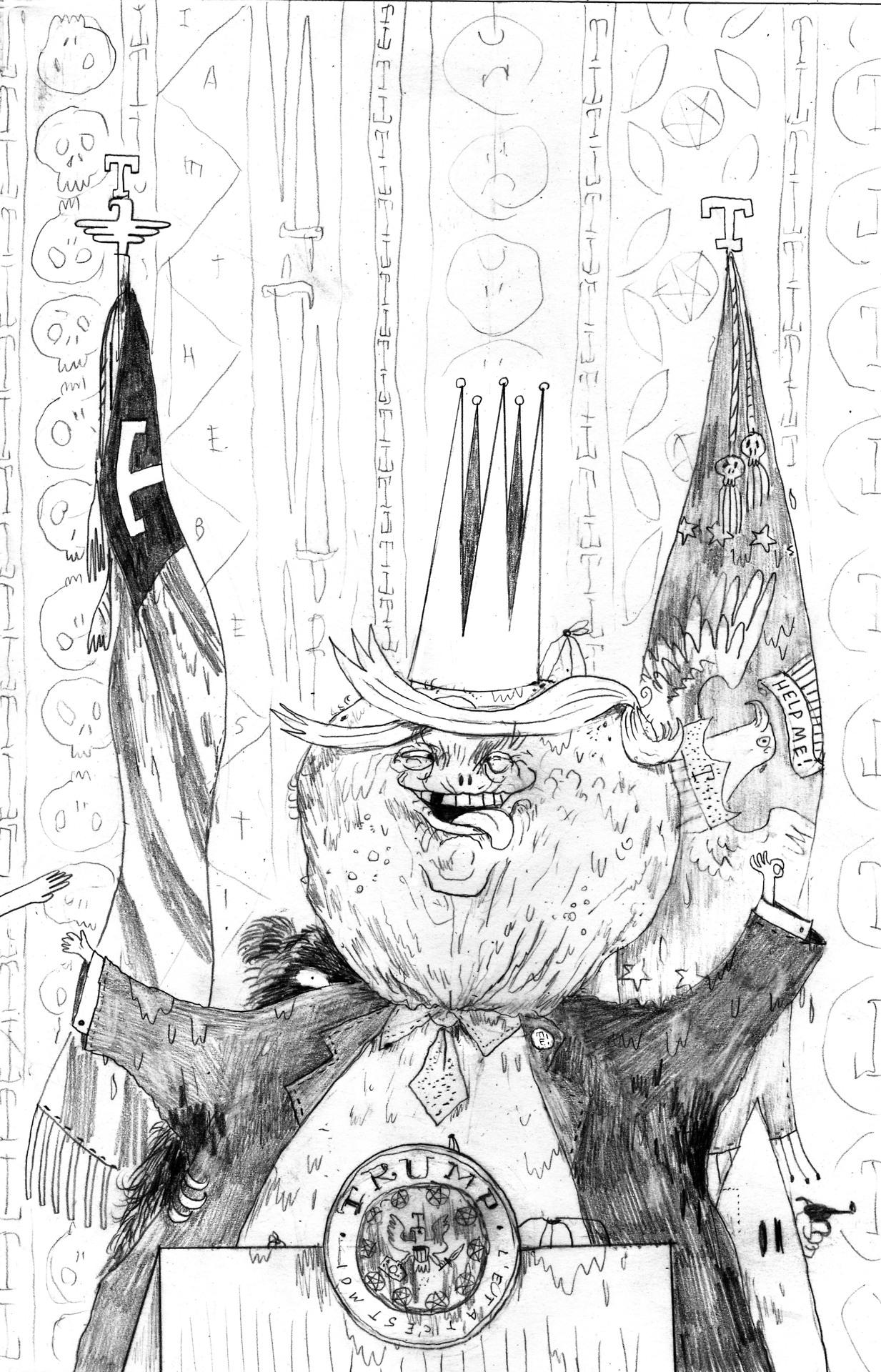 Ilustración del proyecto TrumpTrump - Warren Craghead - Imagen: trumptrump.tumblr.com