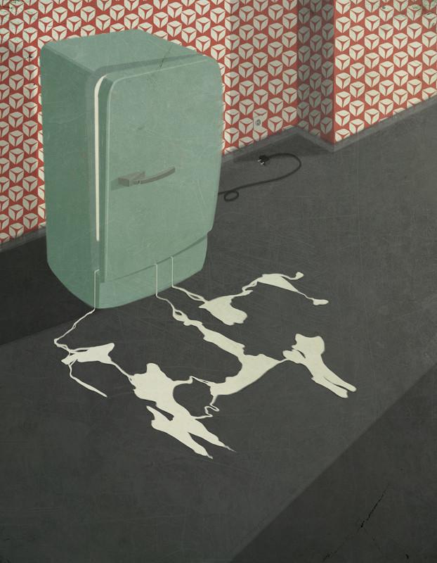 'Milk waste' - Andrea Ucini - Imagen: Anna Goodson Illustration Agency