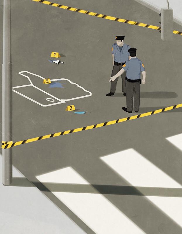 'The war on social networks' - Andrea Ucini - Imagen: Anna Goodson Illustration Agency
