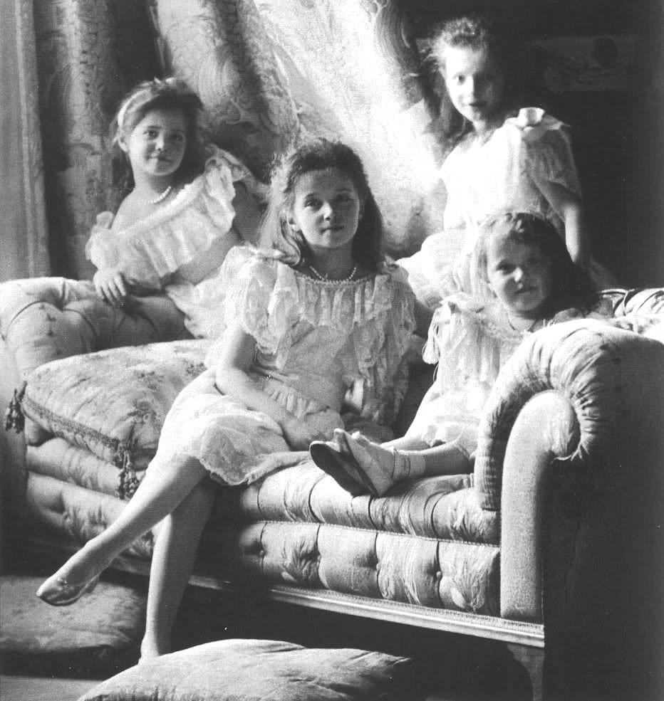 Las princesas Románov, retratadas en torno a 1906 - Foto: Dominio público