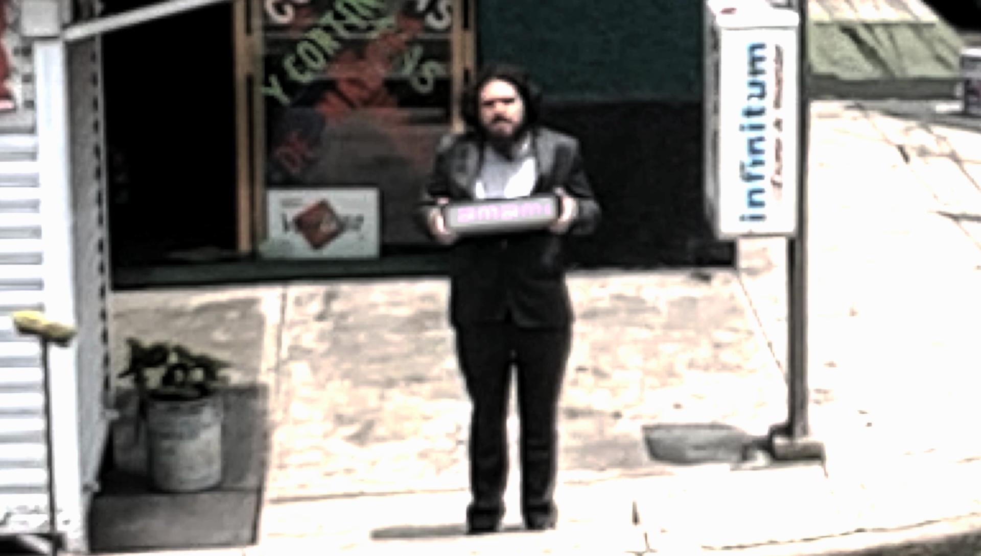 Diego Trujillo ante una cámara de vigilancia - 'Finding the operator'