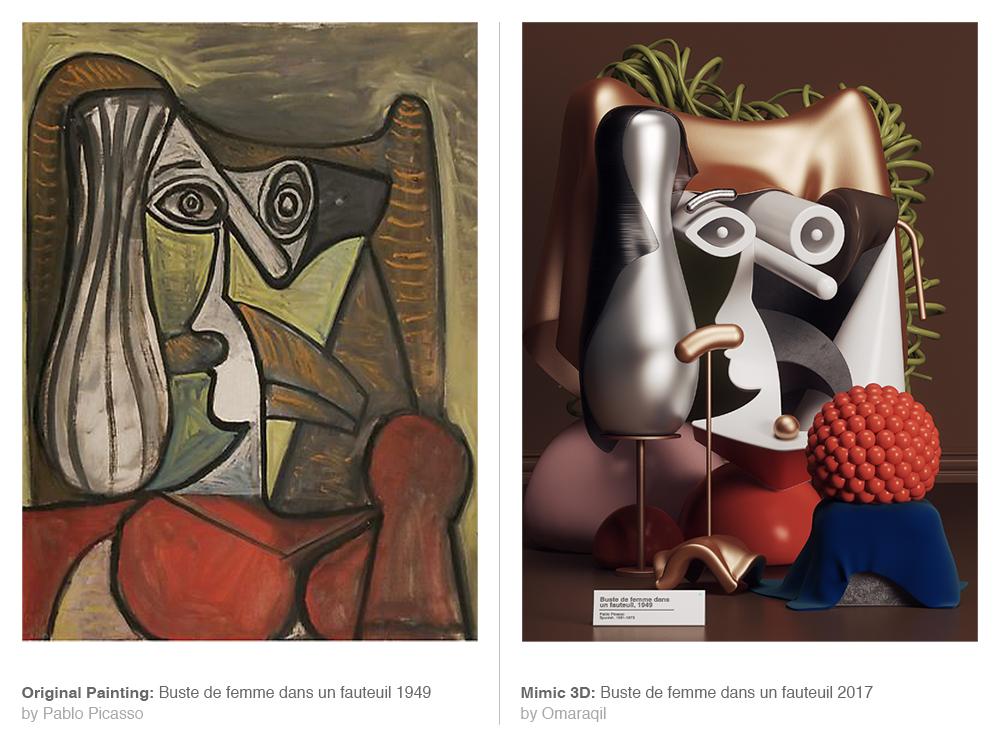 El Picasso, a la izquierda, y la versión de Omar Aqil