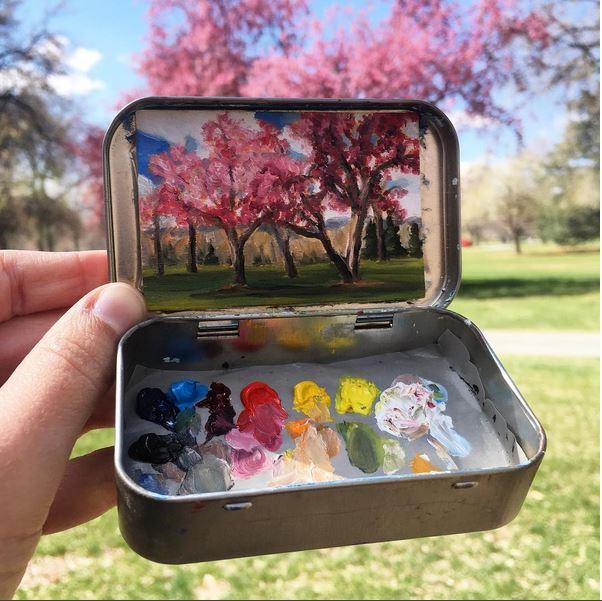 'Cheesman Park, Denver'- Heidi Annalise - Foto: instagram.com/heidi.annalise.art
