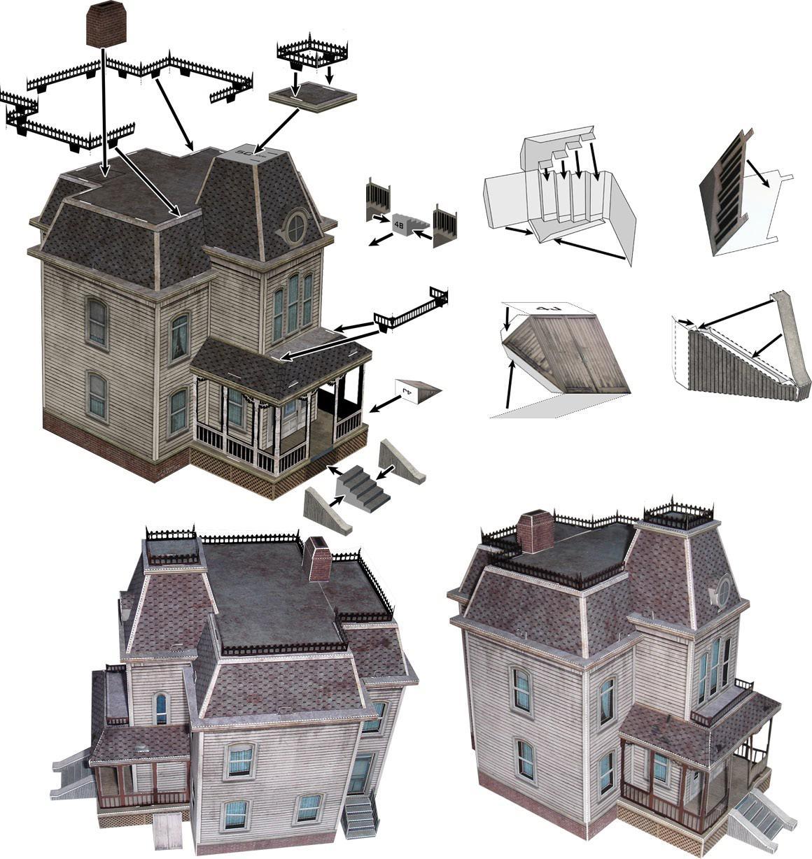 Recreación de Keim de la Casa Bates - Ray Keim - Foto: haunteddimensions.raykeim.com