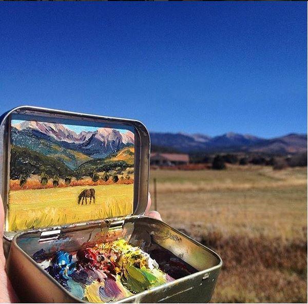 'Truchas, New Mexico' - Heidi Annalise - Foto: instagram.com/heidi.annalise.art