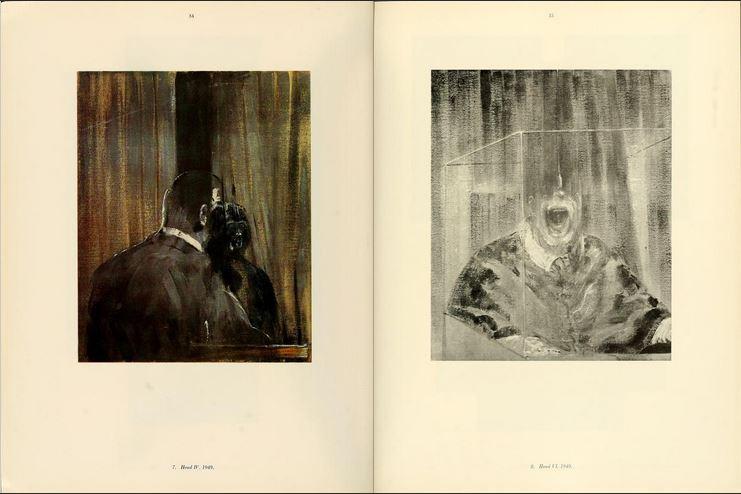 Pliego del catálogo de una retrospectiva de Francis Bacon - Solomon R. Guggenheim Museum Library