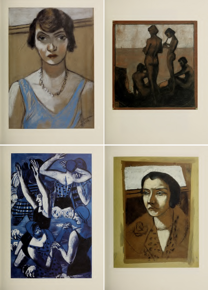 Cuatro obras del catálogo 'Max Beckmann: acuarelas y pasteles' - Solomon R. Guggenheim Museum Library