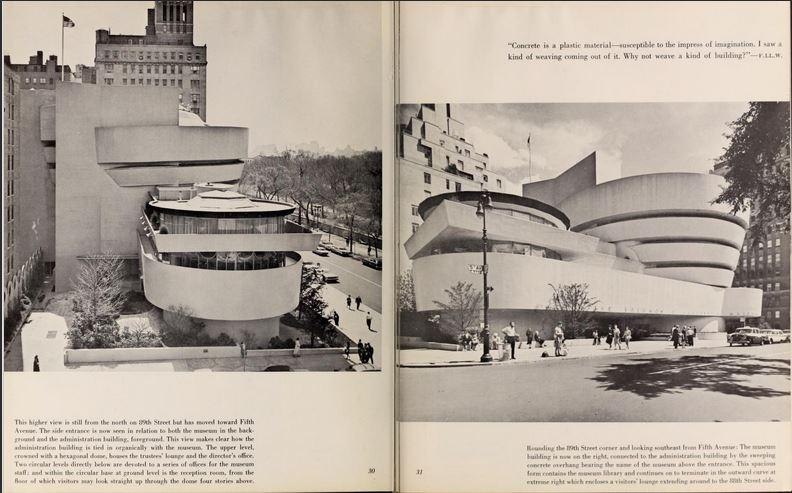 Pliego del libro 'The Solomon R. Guggenheim Museum. Architect Frank Lloyd Wright', sobre la historia y la arquitectura del edificio del museo - Solomon R. Guggenheim Museum Library