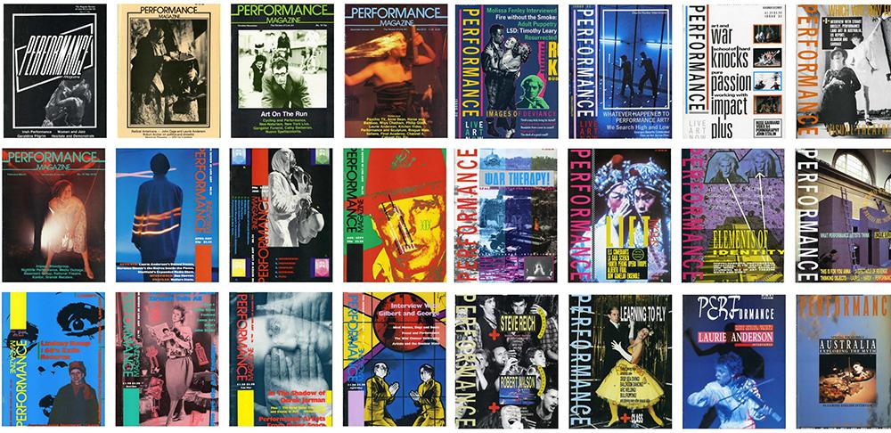 Otro mosaico con portadas de la revista