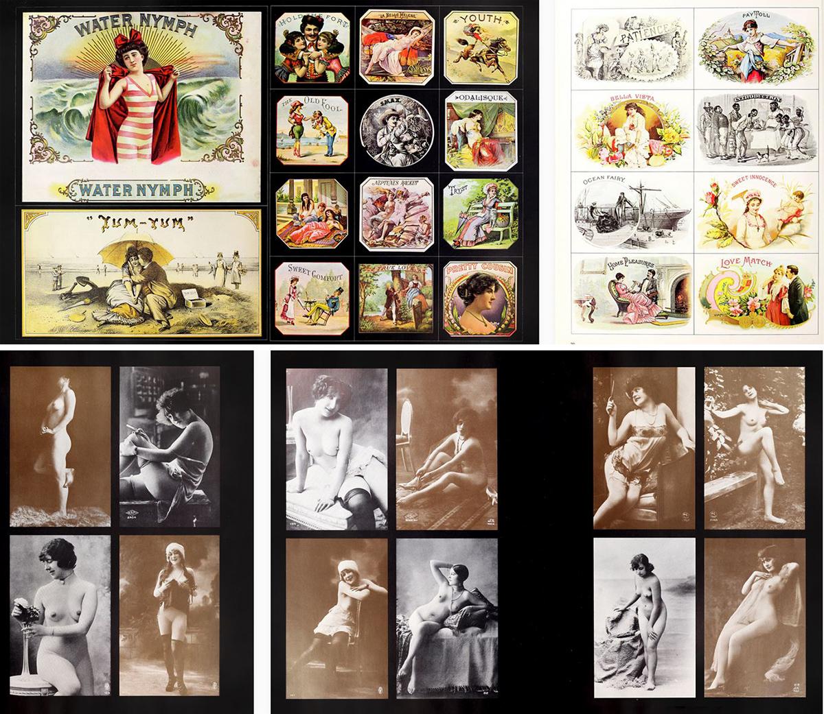 Mosaico con dos piezas gráficas de 'Eros'
