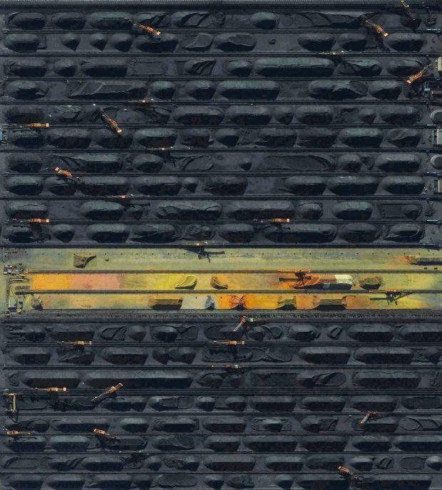 Terminal de carbón de Quinhuangdao, Xina - Quinhuangdao Coal Terminal, China Cortesia de Benjamin Grant / Satellite imagery © DigitalGlobe, Inc