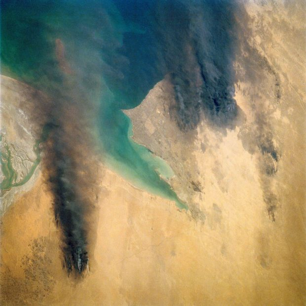 Incendis petroliers, Kuwait (Oil Fires, Kuwait) © Nasa