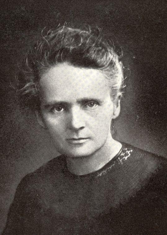 Marie Curie ganó dos premios Nobel y es zurda. Fuente: wikimedia commons.