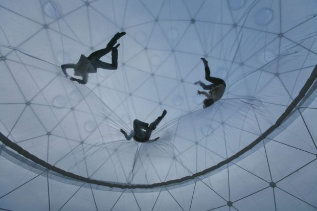 "Tomás Saraceno. ""Observatory/Air-Port-City"", 2008. Installation view, Hayward Gallery, London. Commissioned by Hayward Gallery. Collection Hamburger Bahnhof, Berlin. © Photography by Studio Tomás Saraceno, 2008"