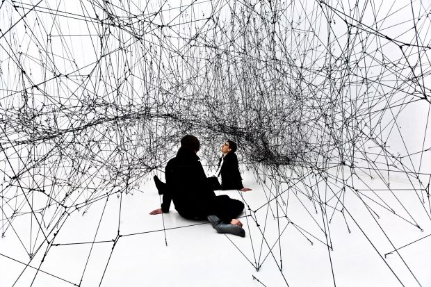 Tomas Saraceno : 14 Billions (workings title) at Bonniers Konsth © Photography by Studio Tomás Saraceno, 2010