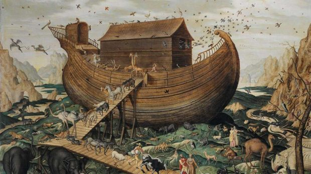 Noah's ark on the Mount Ararat - Simone de Myle