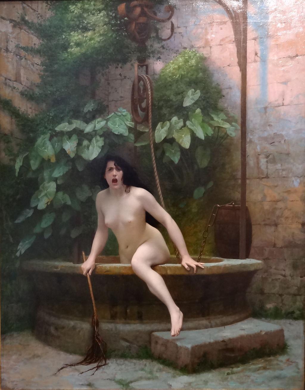 La verdad saliendo del pozo (La Vérité sortant du puits), de Jean Léon Gerome 1896. Wikimedia Commons
