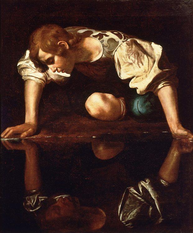 """""""Narciso"""", de Caravaggio. Wikimedia Commons."""