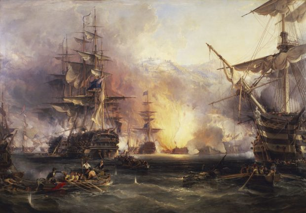 Bombardment of Algiers. George Chambers. 1836. Wikimedia Commons.