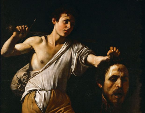 David y Goliath. Caravaggio. Wikimedia Commons.
