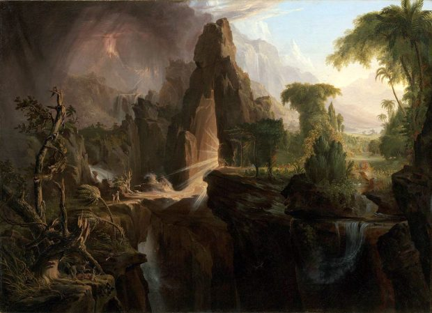 Expulsión del Jardín del Eden. 1828. Thomas Cole. Wikimedia Commons.