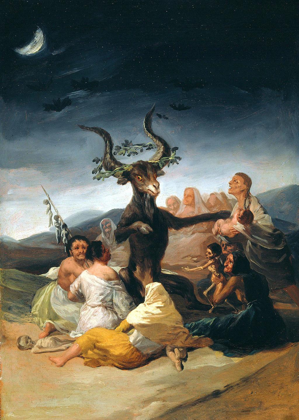 El aquelarre. Goya. Wikimedia Commons.