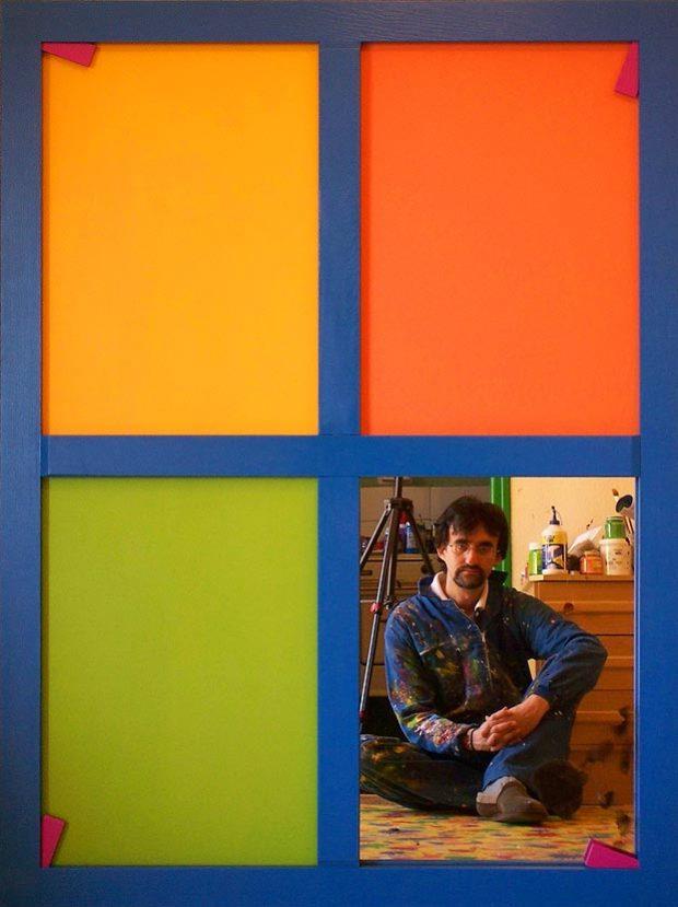 Martín Vicente Lozano. Composición a 4 con espejo.