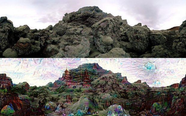 Ejemplo de imagen procesada por Deep Dream. Google